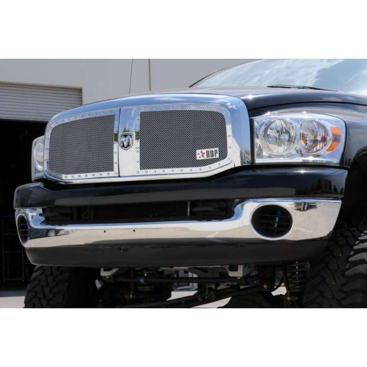 06-08 Dodge 2500/3500 RBP RX Chrome Two Piece Grille